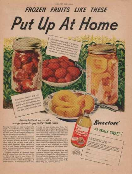 Sweetose Crystal Syrup (1946)