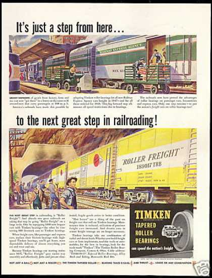 Timken Bearings Railway Express Agency Train (1948)