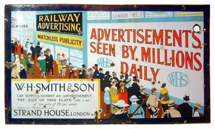 W. H. Smith Advertising Sign