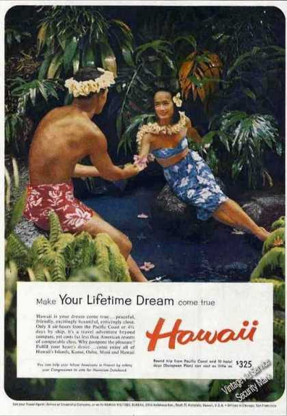 """Make Your Lifetime Dream Come True"" Hawaii (1959)"