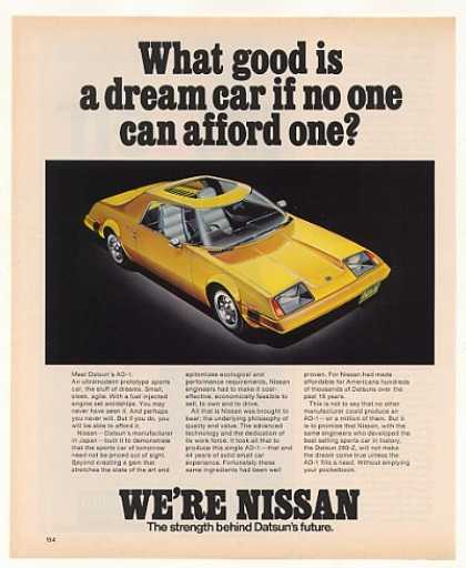 Nissan Datsun AD-1 Prototype Sports Car (1977)
