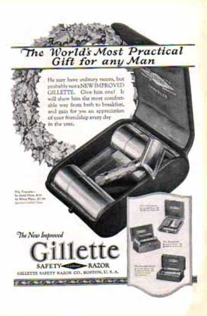 Gillette Safety Razor – Four Styles Shown (1924)