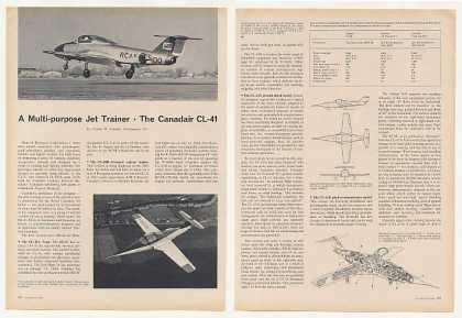 Canadair CL-41 Jet Trainer Aircraft Photo Article (1963)
