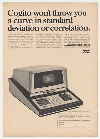 SCM Marchant Cogito 240SR Electronic Calculator (1966)