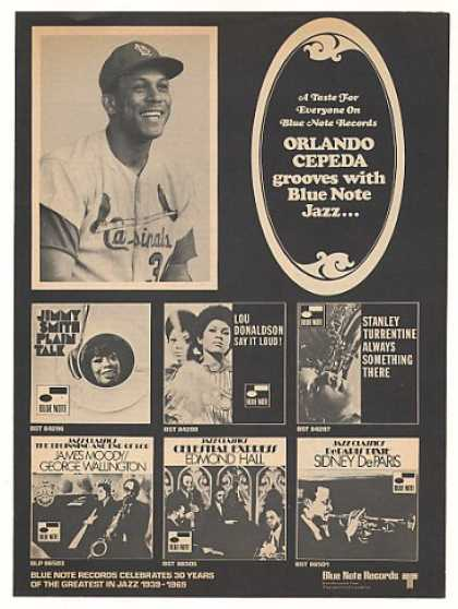 Cardinals Orlando Cepeda Blue Note Jazz Records (1969)