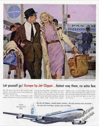 Europe By Jet Clipper Pan American (1959)