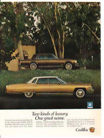 Cadillac Car – Gold with White Roof – Sold (1975)