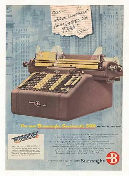 Burroughs Sensimatic 500 Accounting Machine (1953)