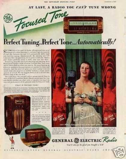 General Electric Radio Color Ad Lily Pons (1936)