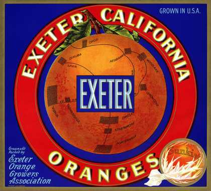 Exeter California Oranges, c. 			s (1930)