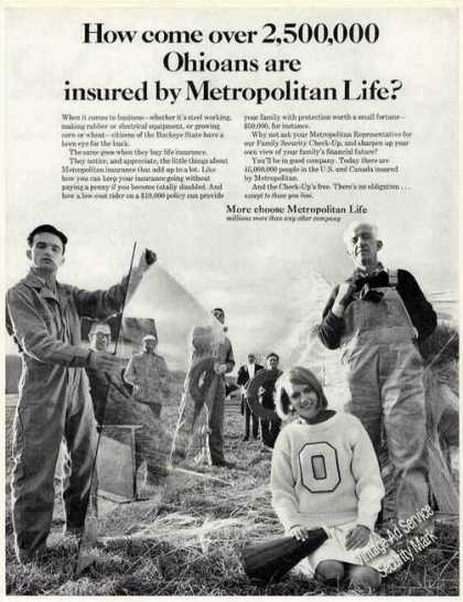 2,500,000 Ohioans Insured By Metropolitan Life (1966)