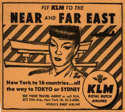 KLM Royal Dutch Airline's Far East – Fly KLM to the Near and Far East (1953)