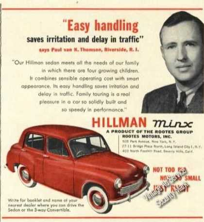 Hillman Minx Not Too Big Not Too Small Old (1951)