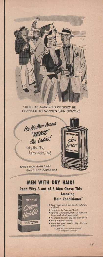 Mennen Skin Bracer Cream Hair Oil (1949)