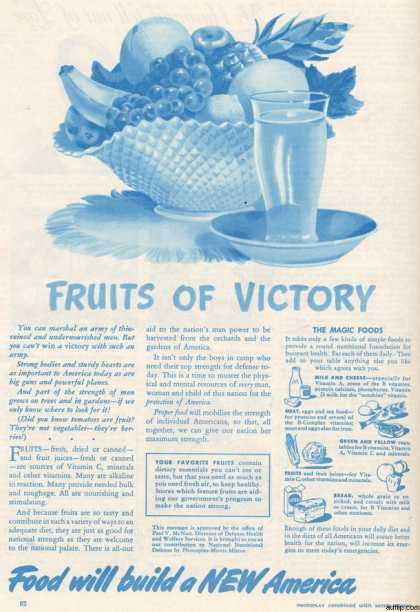 Director of Defense Health's Fruits of Victory (1941)