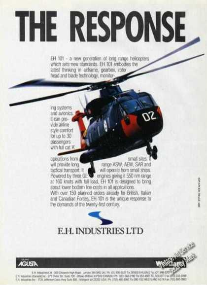 Eh 101 Long Range Helicopter Aircraft (1988)