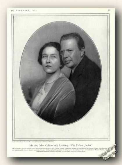 Mr. & Mrs. Coburn Picture Print Feature Theatre (1928)