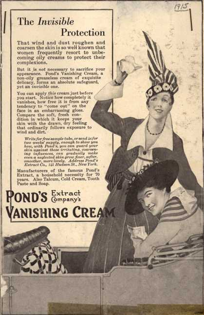 Pond&#8217;s Extract Co.&#8217;s Pond&#8217;s Vanishing Cream &#8211; The Invisible Protection (1915)