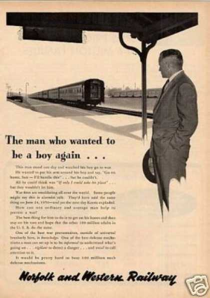 "Norfolk & Western Railway Ad ""The Man Who Wanted.. (1953)"