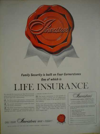 Investors life insurance Built on four cornerstones (1965)