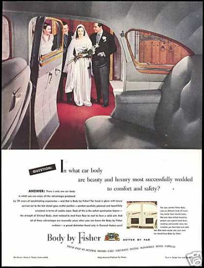 GM Car Body by Fisher Wedding Couple Photo (1948)