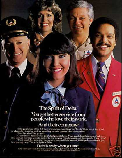 Delta Airlines Employee Stewardess Pilot (1983)