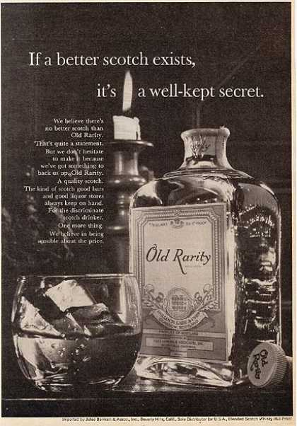 Old Rarity's Blended Scotch Whiskey (1964)