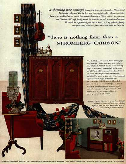 "Stromberg-Carlson Television's Television – ""there is nothing finer than a Stromberg-Carlson."" (1953)"