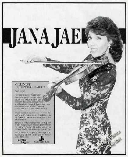 Jana Jae Photo Violinist/singe (1987)