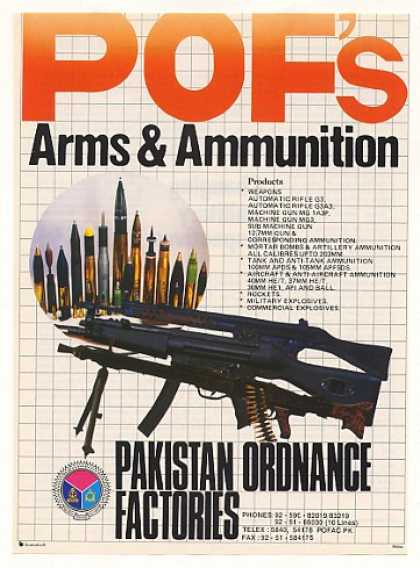 Pakistan Ordnance Factories POF Guns Ammunition (1990)