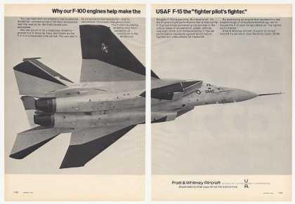 Pratt & Whitney Aircraft USAF F-15 Photo (1974)