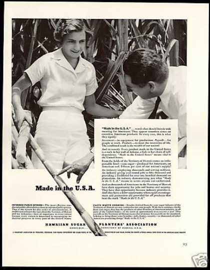Hawaii USA Territory Hawaiian Cane Sugar (1938)