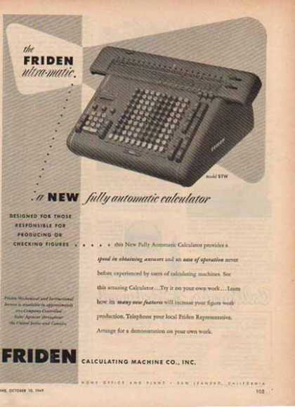 Friden Business Machines – Calculator Model STW (1948)