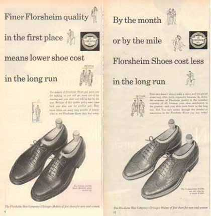 Florsheim Shoes Ads – Viking & Commander – Set of Two (1952)
