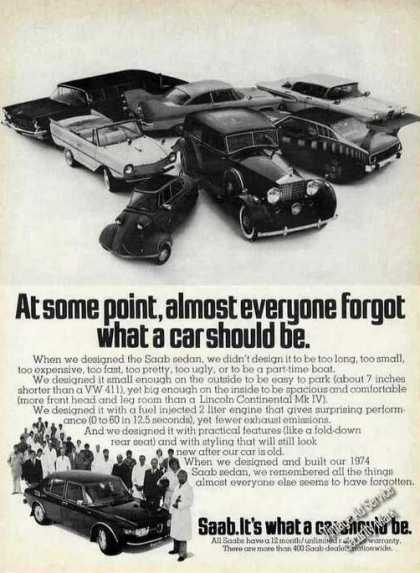 "Saab ""It's What a Car Should Be"" (1974)"