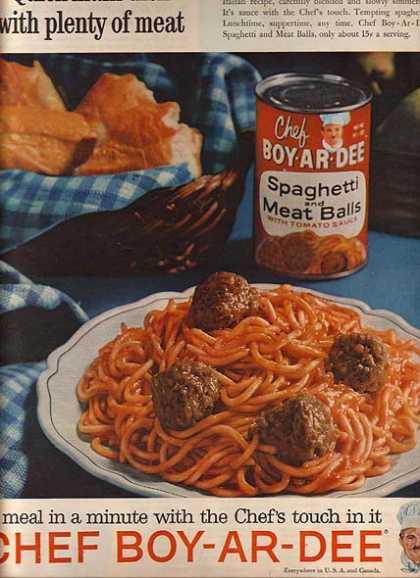 Chef Boy-Ar-Dee's Spaghetti and Meat Balls with Tomato Sauce (1961)