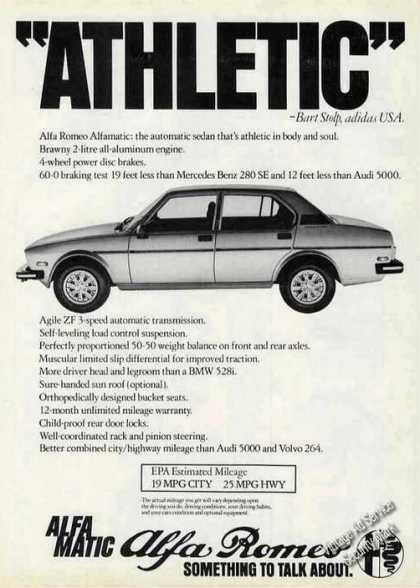 "Alfa Romeo Alfamatic ""Athletic"" Car (1979)"