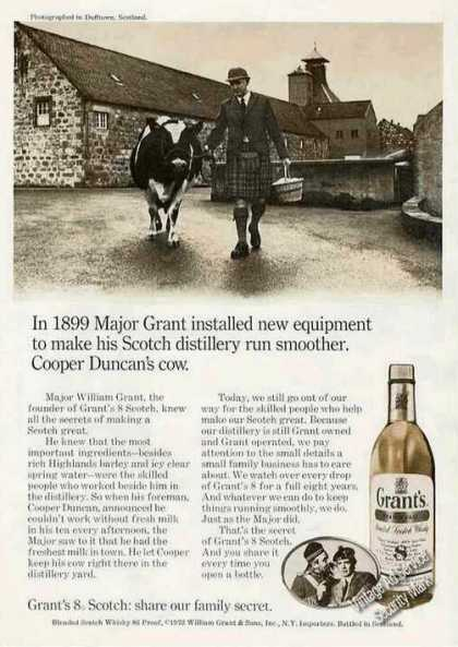 Grant&#8217;s 8 Scotch &quot;Cooper Duncan&#8217;s Cow&quot; (1972)