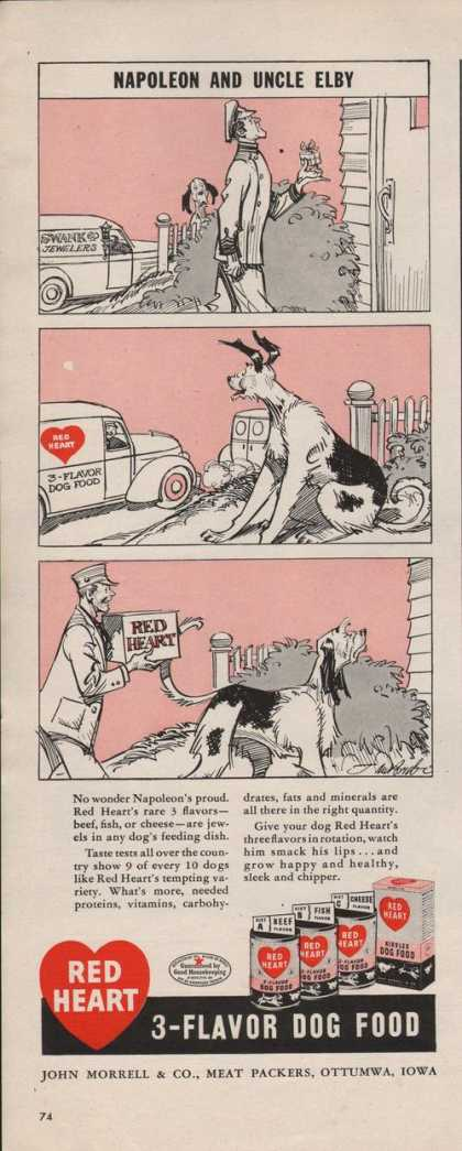 Red Heart 3 Flavor Dog Food (1942)