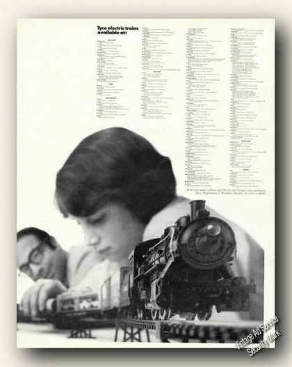 Tyco Electric Trains Father/son Photo (1971)