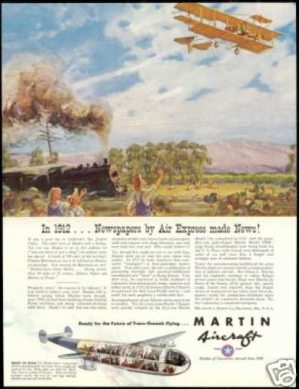 Martin Aircraft Plane 1912 Newspaper Delivery (1940)