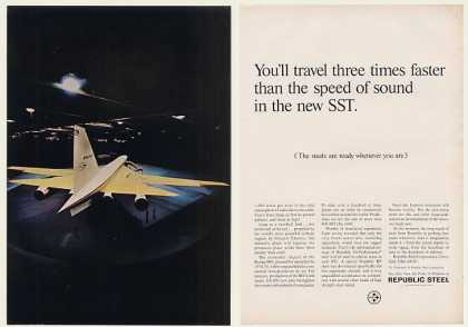 Boeing SST Aircraft Republic Steel 2-Page (1968)
