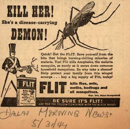 Stanco Incorporated's Flit – Kill her! She's a Disease-Carrying Demon (1944)