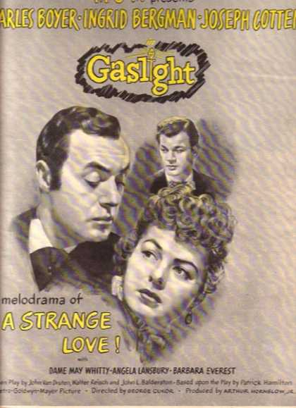 Gaslight (Charles Boyer, Ingrid Bergman and Joseph Cotten) (1944)