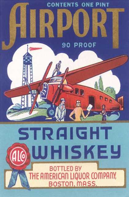 Airport Strait Whiskey Label