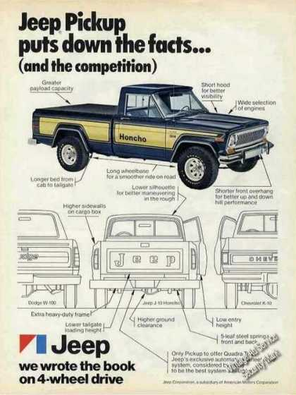 Jeep Pickup 4-wheel Drive We Wrote the Book (1977)