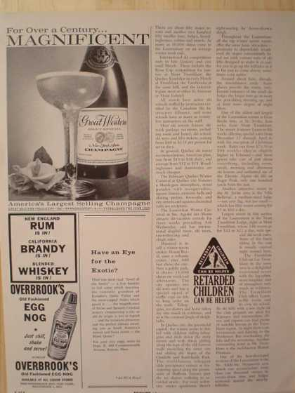 Great Western America's largest selling champagne (1961)