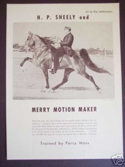 Show Horse Merry Motion Maker Sargent Photo (1965)