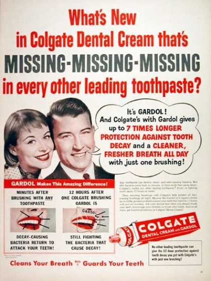 Colgate Dental Cream (1956)