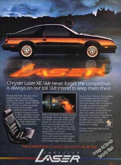 Chrysler Laser Xe Car Advertising (1985)
